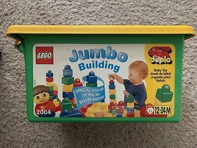 Vintage 1996 LEGO DUPLO JUMBO BUILDING Set #2004 - 50 Piece - Brand New Sealed