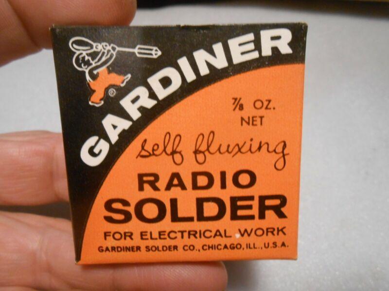 Vintage NOS Box of Gardiner Self Fluxing Radio Solder