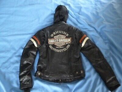 Women's Harley Davidson Miss Enthusiast 3-in-1 Leather Jacket Sz S-- 98142-09VW