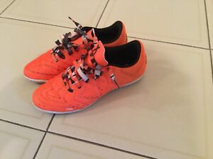 Adidas indoor soccer shoes for kids. Orange colour. Size 5