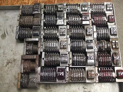 Numbering Machines 24 Used