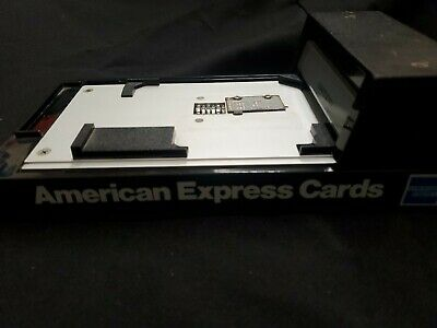 Bartizan Flatbed Manual Addressograph Credit Card Imprinter Slider American Expr
