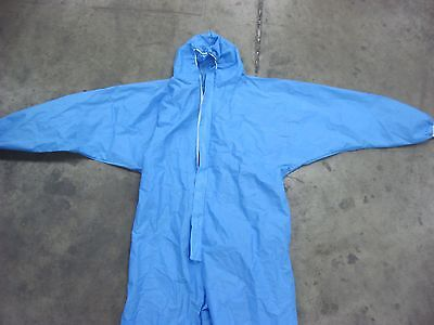 Blue Sms Environmental Cleanup Paint Suit With Hood Size 3 Xl