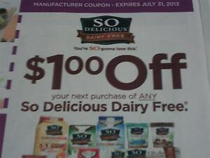 15 Coupons $1/1 So Delicious Dairy Free 7/31/2013