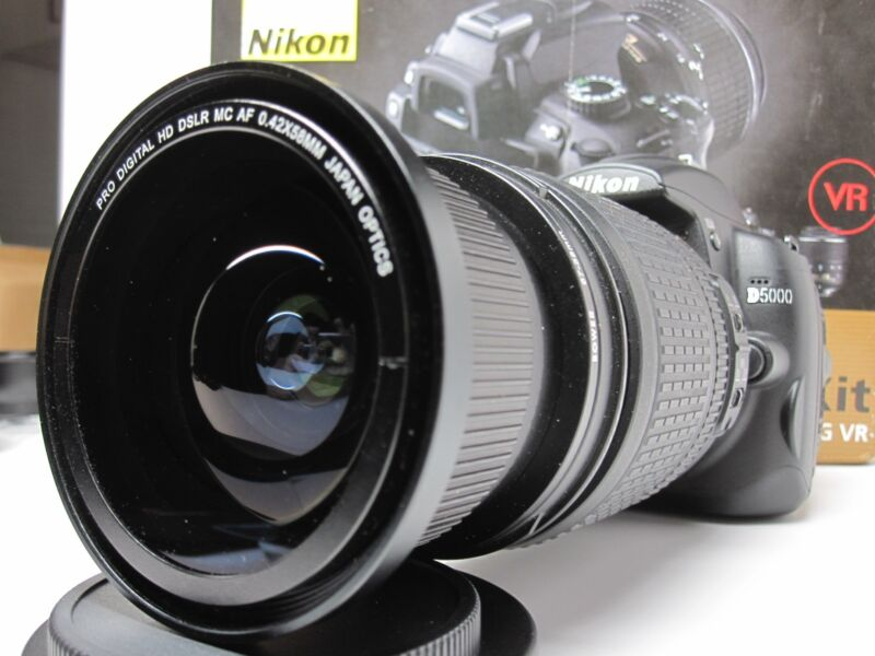 Ultra Wide Angle Macro Fisheye lens for Nikon d5500 d5300 d7100 18-200 AF-S  VR
