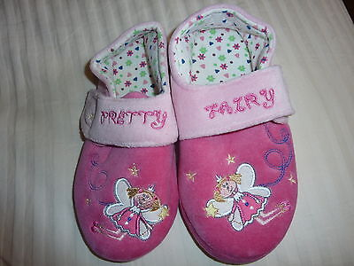 Pink Fairy Schuhe (MOTHERCARE PRETTY FAIRY PLUSH GIRLS SLIPPERS SIZE 1 (EUR 33) PINK SOFT STARS)