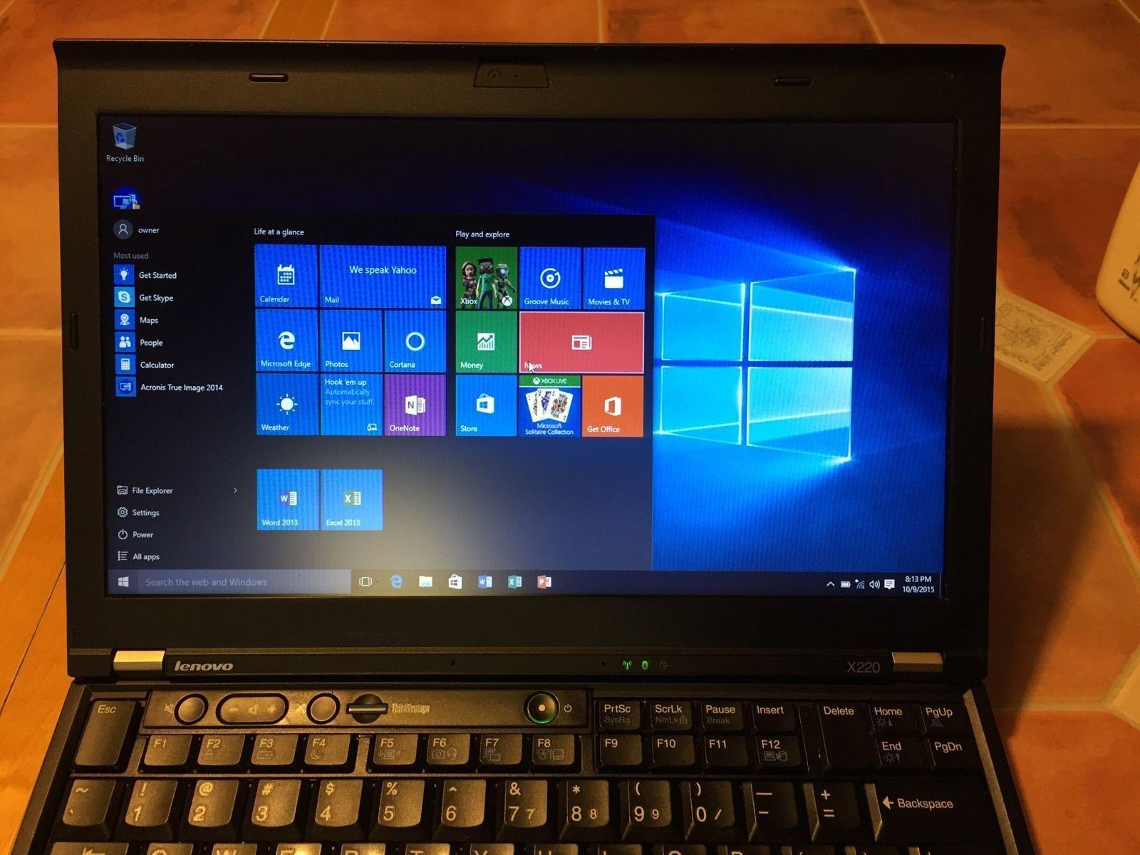 "Lenovo ThinkPad X220 12.5"" Laptop PC i5-2520M 128GB SSD 4GB RAM Windows 10 Pro"