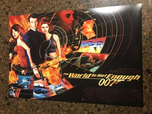* PIERCE BROSNAN * signed 12x18 photo poster * 007 THE WORLD IS NOT ENOUGH * 1