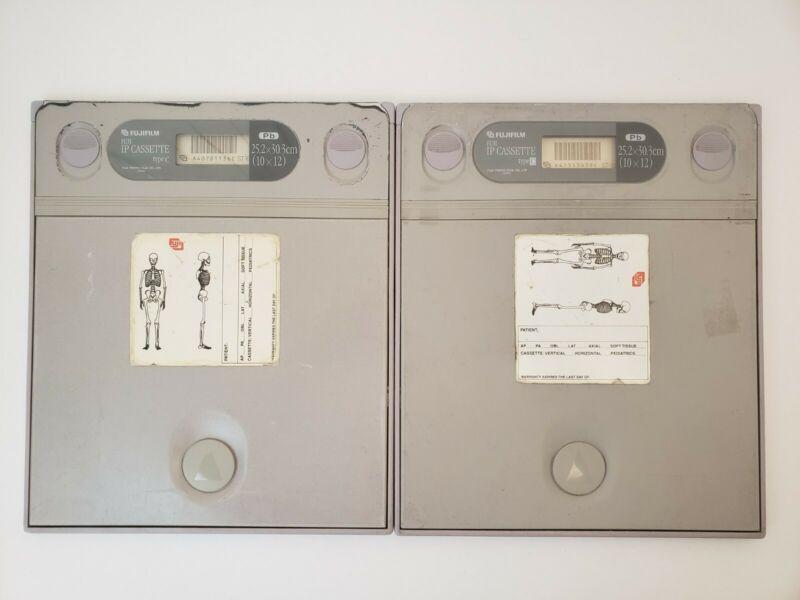 "LOT OF 2 Fujifilm Fuji IP X-Ray Cassette Type C 25.2cm x 30.3cm (10"" x 12"")"