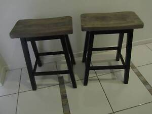 2 Indoor/Outdoor Stools Industrial Style Paint Sippy Downs Maroochydore Area Preview