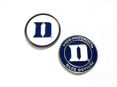 NCAA Duke Blue Devils Golf Ball Marker Enamel Metal Team Logo 2 Sided Hat Duke Blue Devils Golf