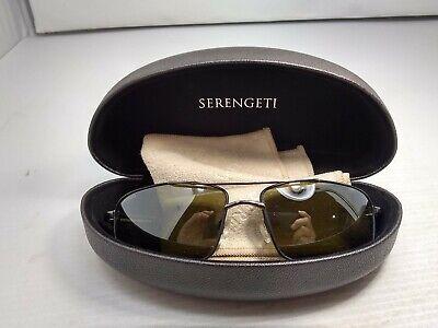 Serengeti Eyewear Sunglasses Dante 7115 Shiny Gunmetal/Black Polarized  (Serengeti Dante Sunglasses)