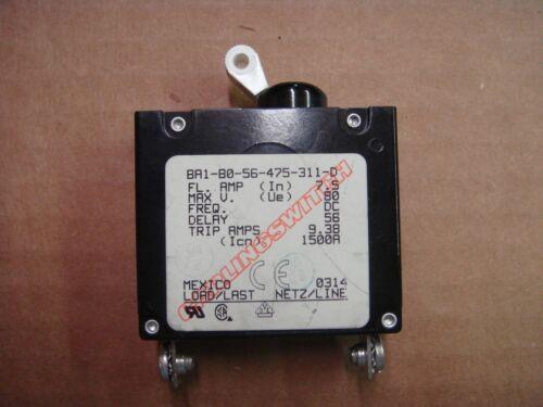 Carling 7.5 Amp Boat Circuit Breaker Switch White Toggle, BA1-B0-56-475-311-D