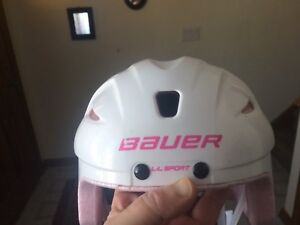 Bauer girls certified skating helmet EUC two for sale