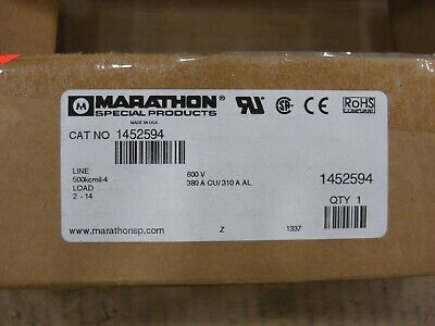 Marathon Power Distribution Block 1452594 2 Pole 380a 600vac