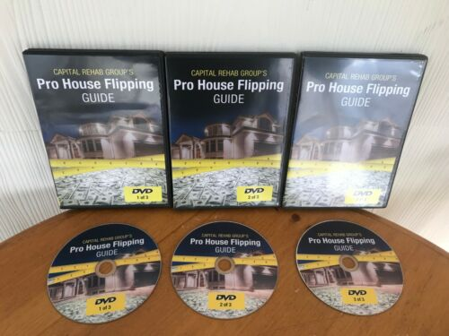PRO HOUSE FLIPPING GUIDE: FLIP HOUSES LIKE A PRO! CAPITAL REHAB GROUP ON 3 DVDS!
