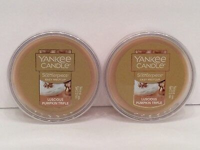 YANKEE CANDLE SCENTERPIECE Easy Melt Cup in LUSCIOUS PUMPKIN TRIFLE  - SET OF 2! (Easy Trifle)