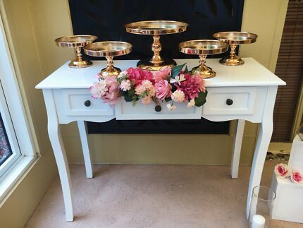 VINTAGE WHITE TABLE FOR HIRE