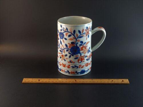 Large Oversize Antique Kangxi Period Imari Porcelain Mug Tankard circa 1720
