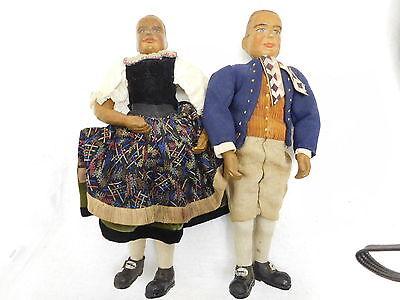 MES-50216 Alte Holz Puppen H:ca.34cm,Arme und Beine beweglich,