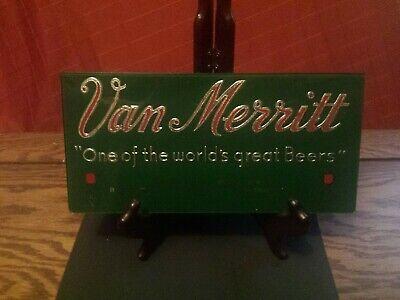1940's Wisconsin Van Merritt beer Reverse  On Glass Sign