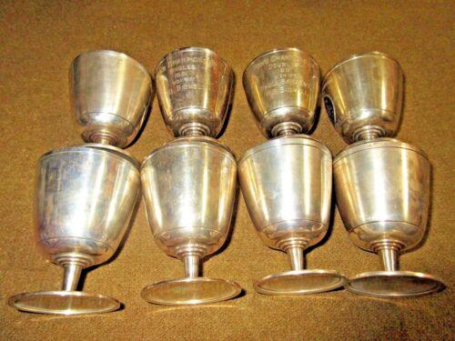 WESTON GOLF CLUB 1934     8 STERLING TROPHY CUPS