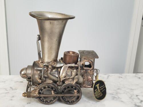 Vintage 1987 Sonny Dalton Steampunk Metal Locomotive Steam Train Sculpture