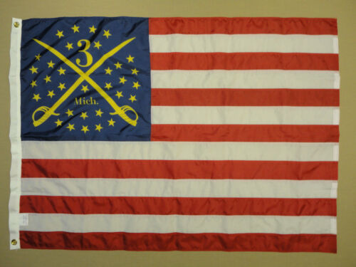3rd Michigan Headquarters 1862 Historical Outdoor Nylon Flag Grommets 3