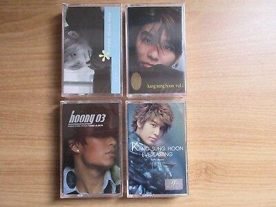 Kang Sung Hoon -  4 EA Korea Sealed Cassette Tape K POP Sechskies Kang