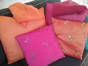 2x Satin and 2 x georgette cushions and extra covers Brookwater Ipswich City Preview