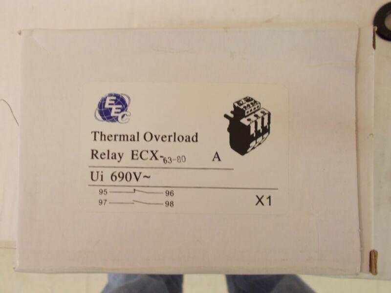 EEC  ECX63-80A  OVERLOAD RELAY  AEG