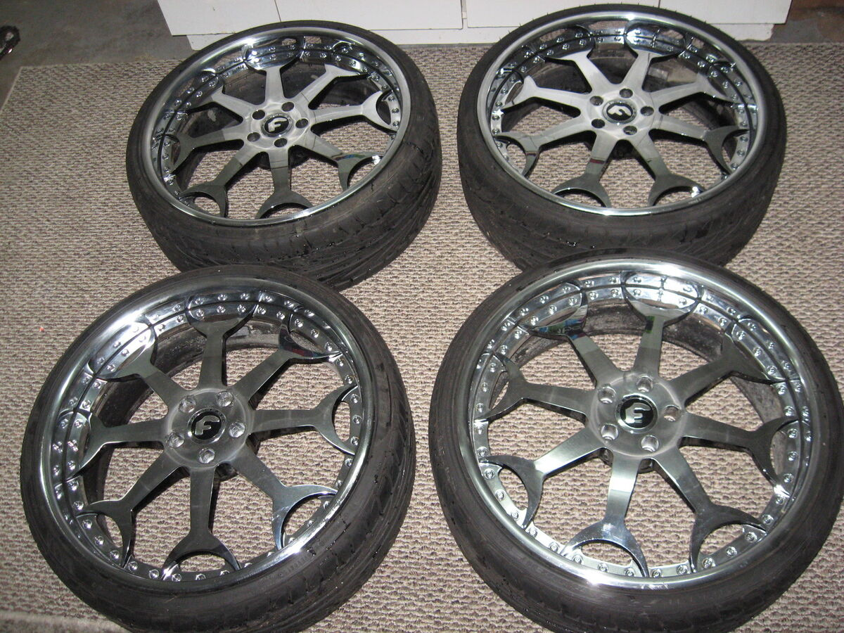 "4 22"" Forgiato Capolavaro Chrome Wheels Rims Falken Tires Bentley BMW Cadillac"