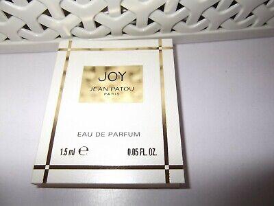Women's Jean Patou JOY Eau De Parfum 1 x 1.5 ml Splash sample New Stock