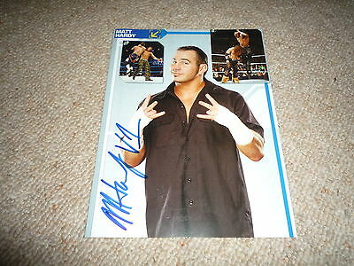 MATT HARDY signed Original Autogramm In Person 20x25 cm WWE