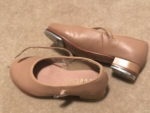 Bloch Child Size 10 Tan Tap Shoes