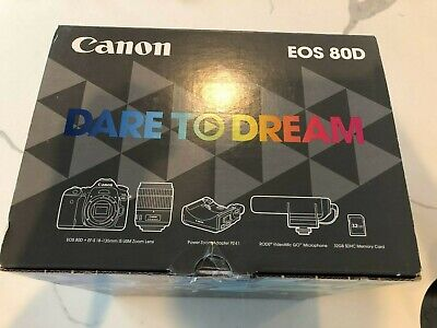 Canon EOS 80D Camera Video Creator Kit with 18-135mm IS USM Lens, 32GB, Rode mic