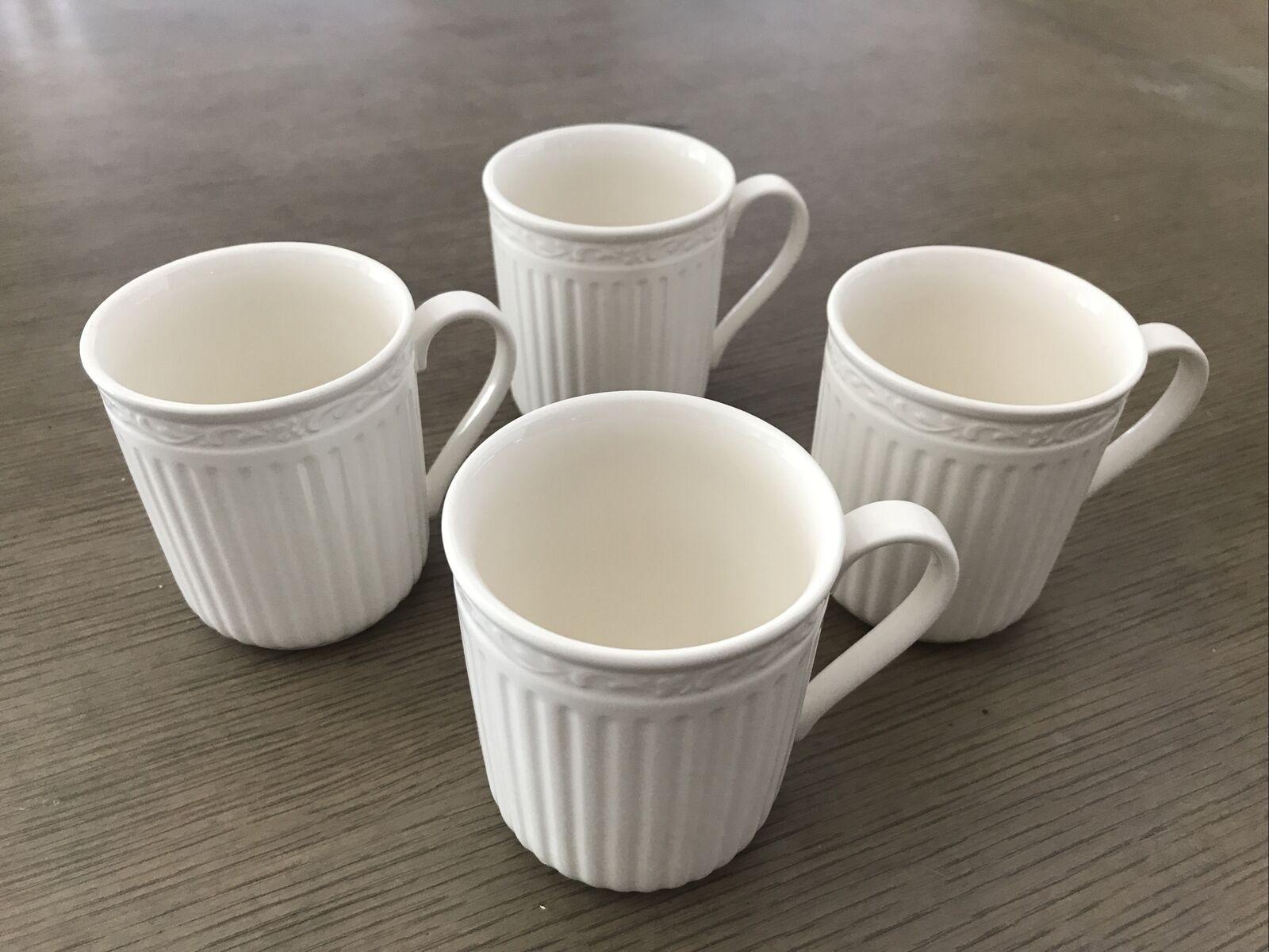 Set Of 4 Mikasa Italian Countryside Coffee Cups Mugs DD900 GUC 10oz - $29.99