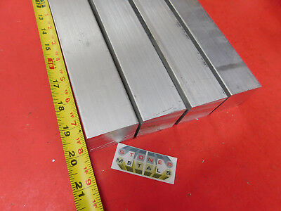 4 Pieces 1-12 X 1-12 Aluminum Square 6061 T6511 Solid Extruded Bar 22 Long