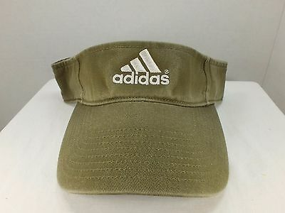 Adidas  SUN VISOR ADULT Color Olive Green ADHESIVE STRAP HAT  NEW With Tags
