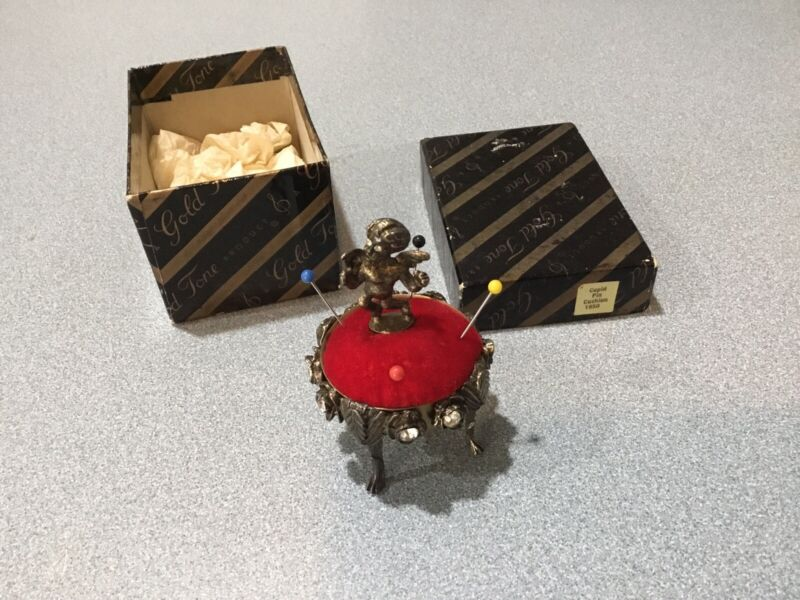 STATE RARE PIN CUSHION 1950 CUPID IN ORIGINAL BOX MINT CONDITION