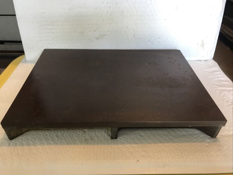 Vintage Cast Iron 10 X14 Machinist Surface Plate Lapping USA Lombard Governor Co