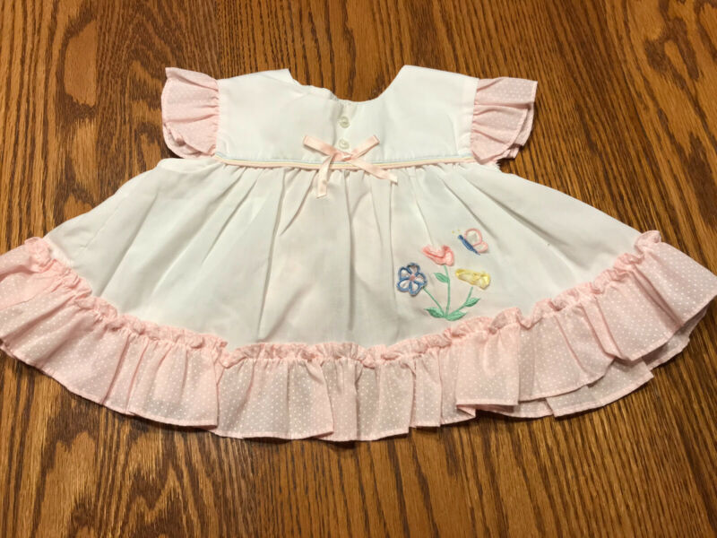 Lot 10 Vintage Baby Doll Dresses Outfits Lace Ruffles Embroidery 0-3 Mo
