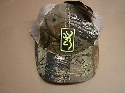 best website 4fabc 345c9 New Browning Dry Creek Hat Conway Mesh Back Baseball Cap RTX Lime green  Trucker