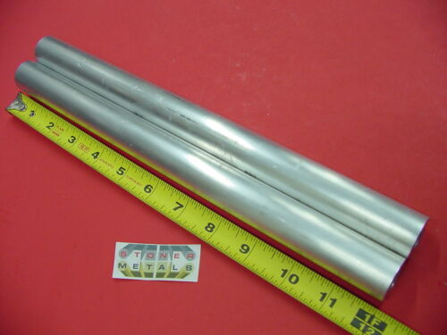 """2 Pieces 1"""" OD x 1/4"""" Wall 6061 T6 ALUMINUM Round Tube 12"""" long 1/2"""" ID Seamless"""