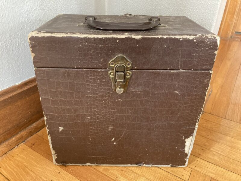 Vintage DISC MATE Hardshell 78 rpm Record Carry Case Box Holder for 50 Records