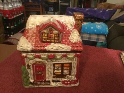 Cookie Jar Enchanted Village Collection House Shaped