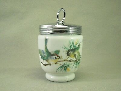 Royal Worcester Porcelain Birds Wrens Vintage Egg Coddler