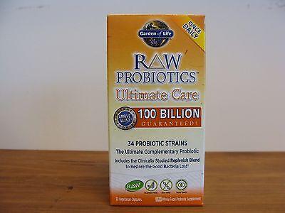 Ultimate Care Probiotics 30 Capsules    34 Strains 100 Billion   Garden Of Life