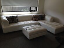 White leather modular Norlane Geelong City Preview