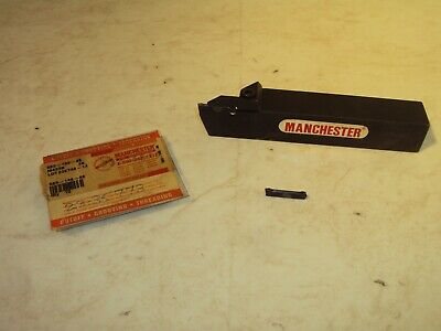 Manchester 250-143 Grooving Tool Holder W 10 583-148-48 Carbide Inserts M433b